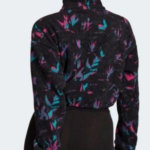 adidas Tops - Adidas Cropped  Half Zip Sweatshirt